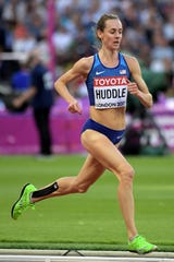 Molly Huddle places seventh in women's 5,000m heat in 15:03.60 to advance to the final during the 2017 IAAF World Championships in Athletics at London Stadium at Queen Elizabeth Park.
