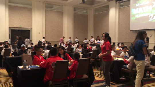 104 students from Guam's public and private schools competed in the annual Math Olympiad competition on Saturday, March 30, 2019 at the Sheraton Laguna Guam Resort.