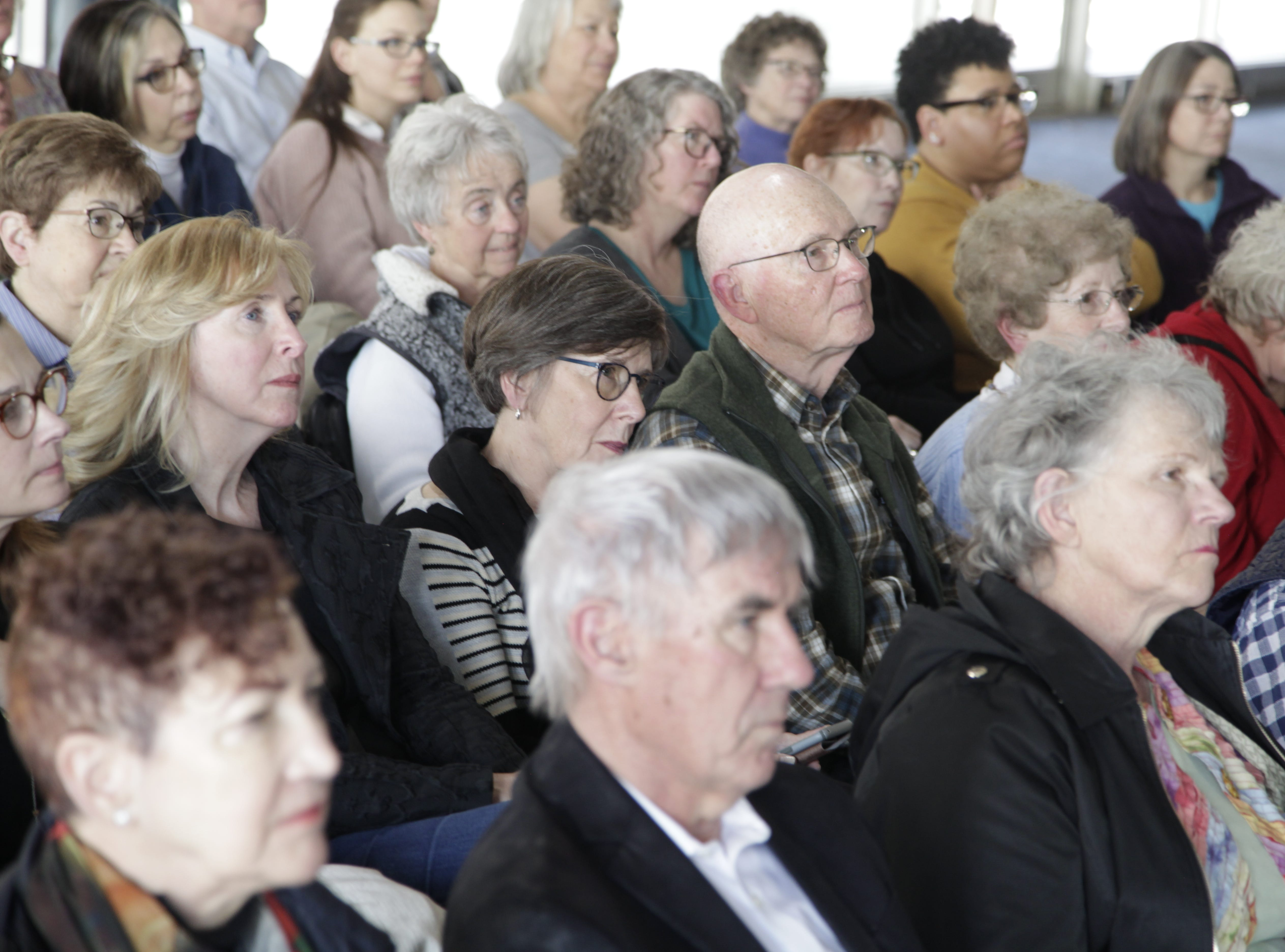 Audience members listened to author Susan Orlean, who spoke at the DSM Book Festival downtown on Saturday, March 30, 2019.