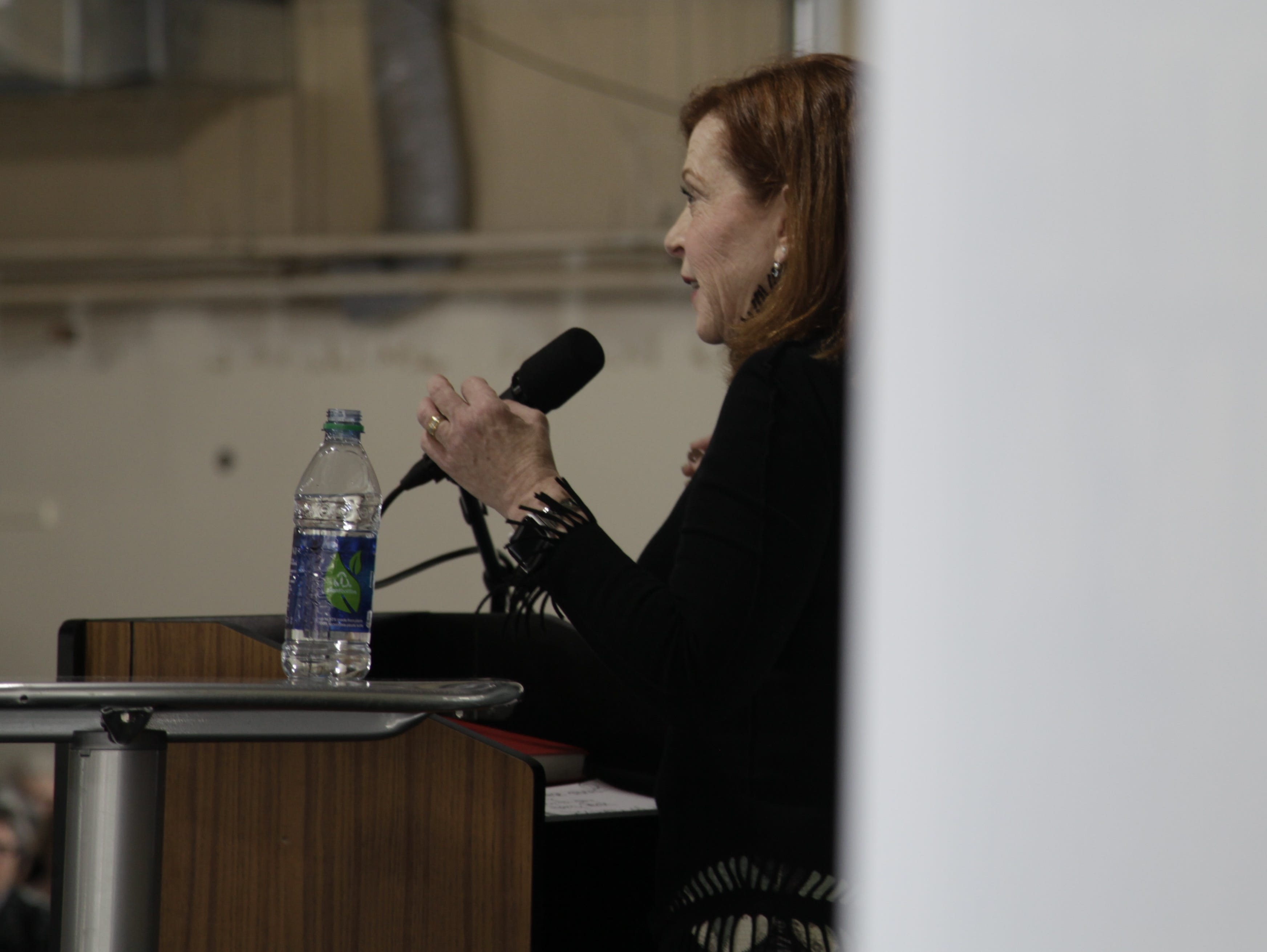 Author Susan Orlean spoke at the DSM Book Festival, which attracted book lovers downtown on Saturday, March 30, 2019.