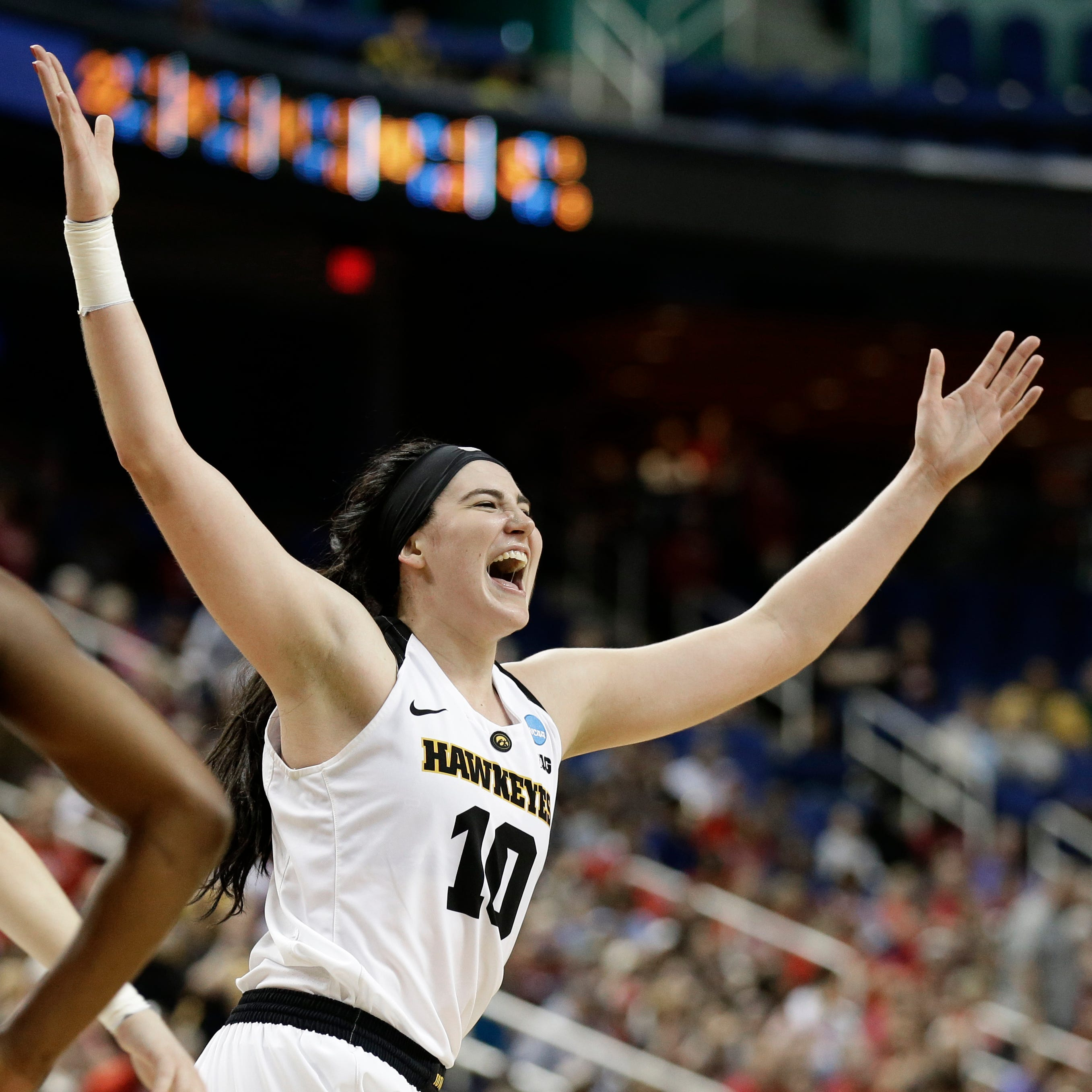 Still going: Iowa's Megan Gustafson wins third national player of the year award