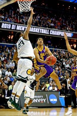 b2c8fef795aa7a NCAA Tournament 2019  LSU vs. MSU basketball video highlights