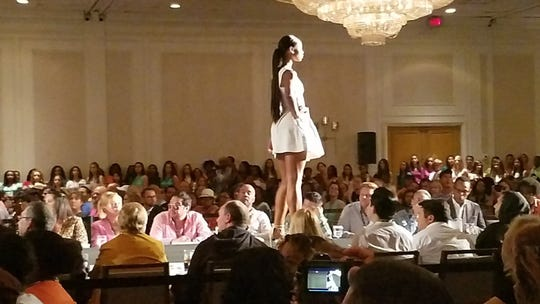 St. Martinville's Jordan Landry walks the runway during the Barbizon Houston Competition in 2016. Landry won the overall talent, monologue, stand-up comedy and dance competitions at the event and received a partial scholarship to study at The New York Conservatory in New York.