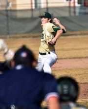 Howell's Luke Russo pitched five innings of no-hit baseball in a 10-0 victory over Westland John Glenn on Friday, March 29, 2019.