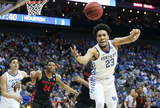 EJ Montgomery has tons of potential but may be better off with another year at Kentucky.