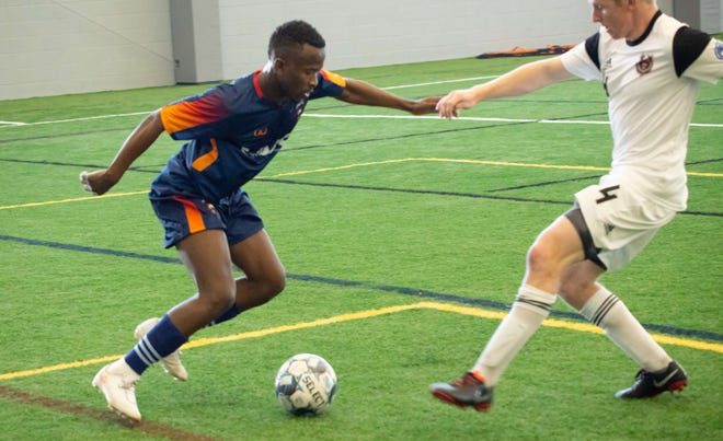 Tumi Moshobane scored the first goal in Lansing Ignite history as the team won its inaugural match Saturday night at the Richmond Kickers.