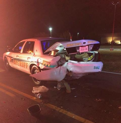 Impaired driver rear-ends Shelby County deputy's patrol car