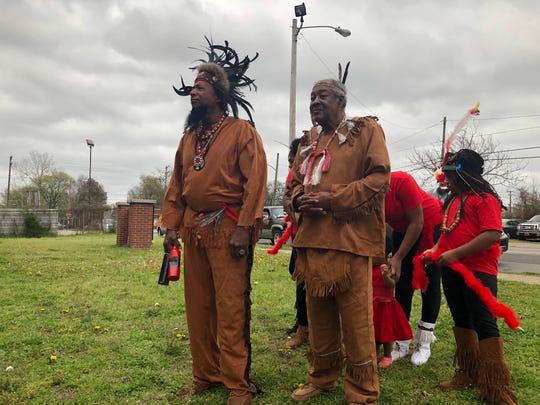 Members of the Oka Nashoba Nation came to the assembly in New Chicago to speak out against a city plan they say lacks real investment in North and South Memphis.