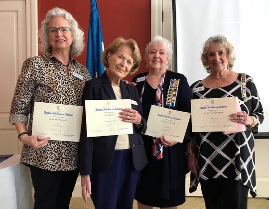 Honored members of Marco's DAR include Debra Haeussler, 20 years; Kay Ziegler, 25 years; Dona Zuckerman, 20 years; and Barbara Messere, 40 years.