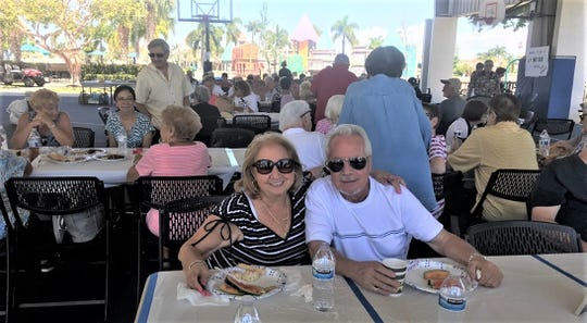 Nancy and John Aresta having a great time.