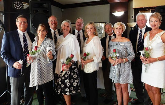 From left, Dan and Connie Woodworth, Charles and Holly Erker, Glen and Theresa Perkins, Hermann and Darlene Schulze and Jeff and Patti Jo Wilson.