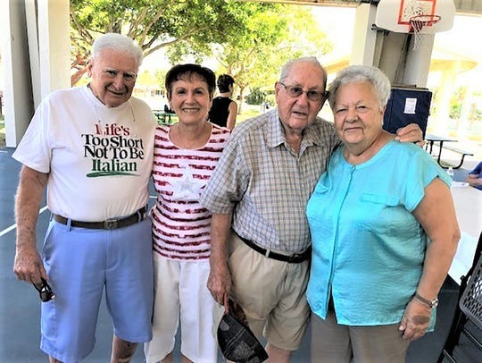 Peter and Edith Acquavella and Manny & Mary Puglisi posed for the camera.