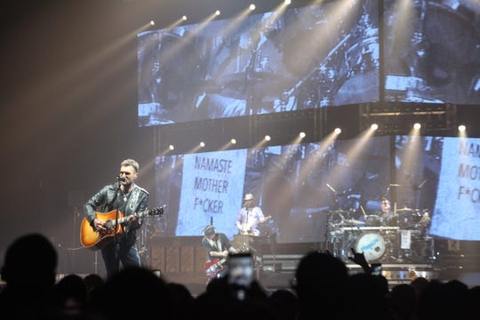 "Eric Church performs night one of the two-evening Milwaukee run of his ""Double Down"" tour on Friday, March 29, at Fiserv Forum."