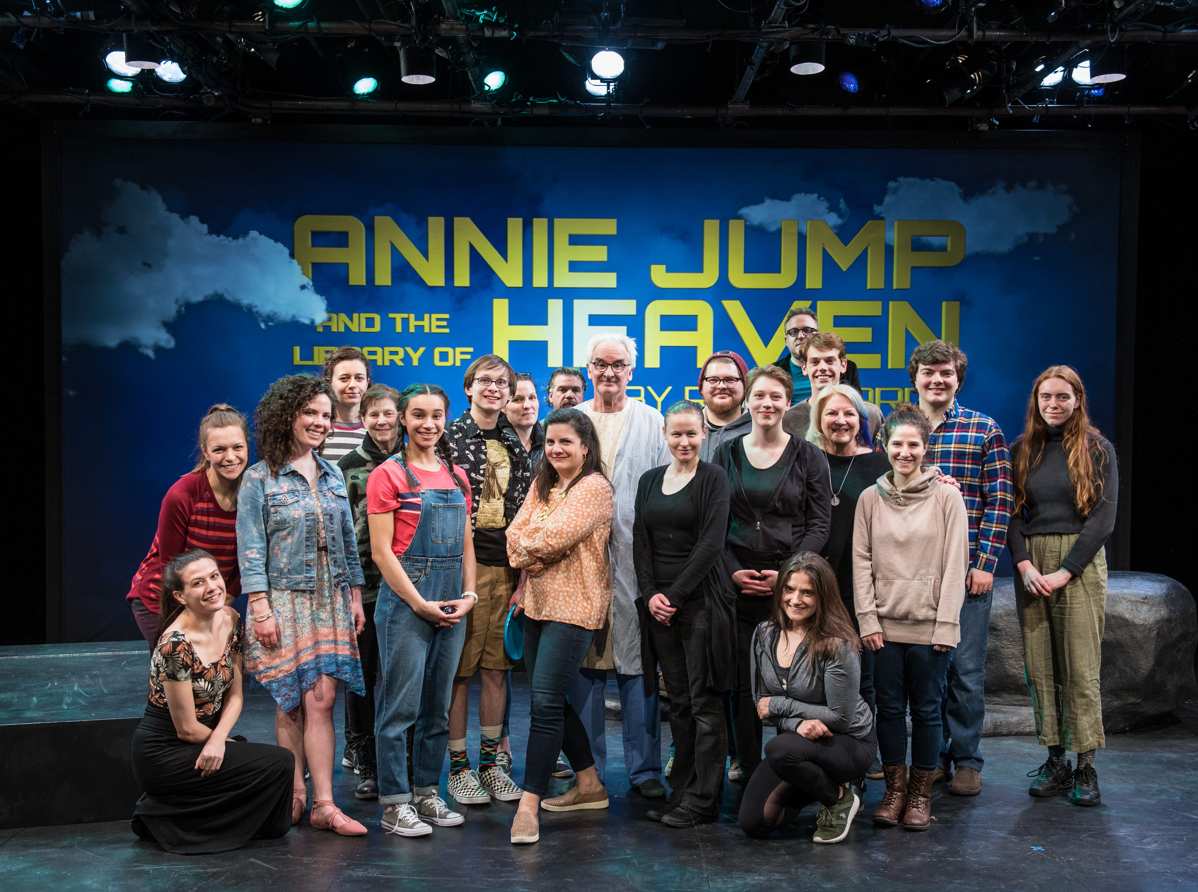 "The cast and production team of Renaissance Theaterworks' ""Annie Jump and the Library of Heaven."""