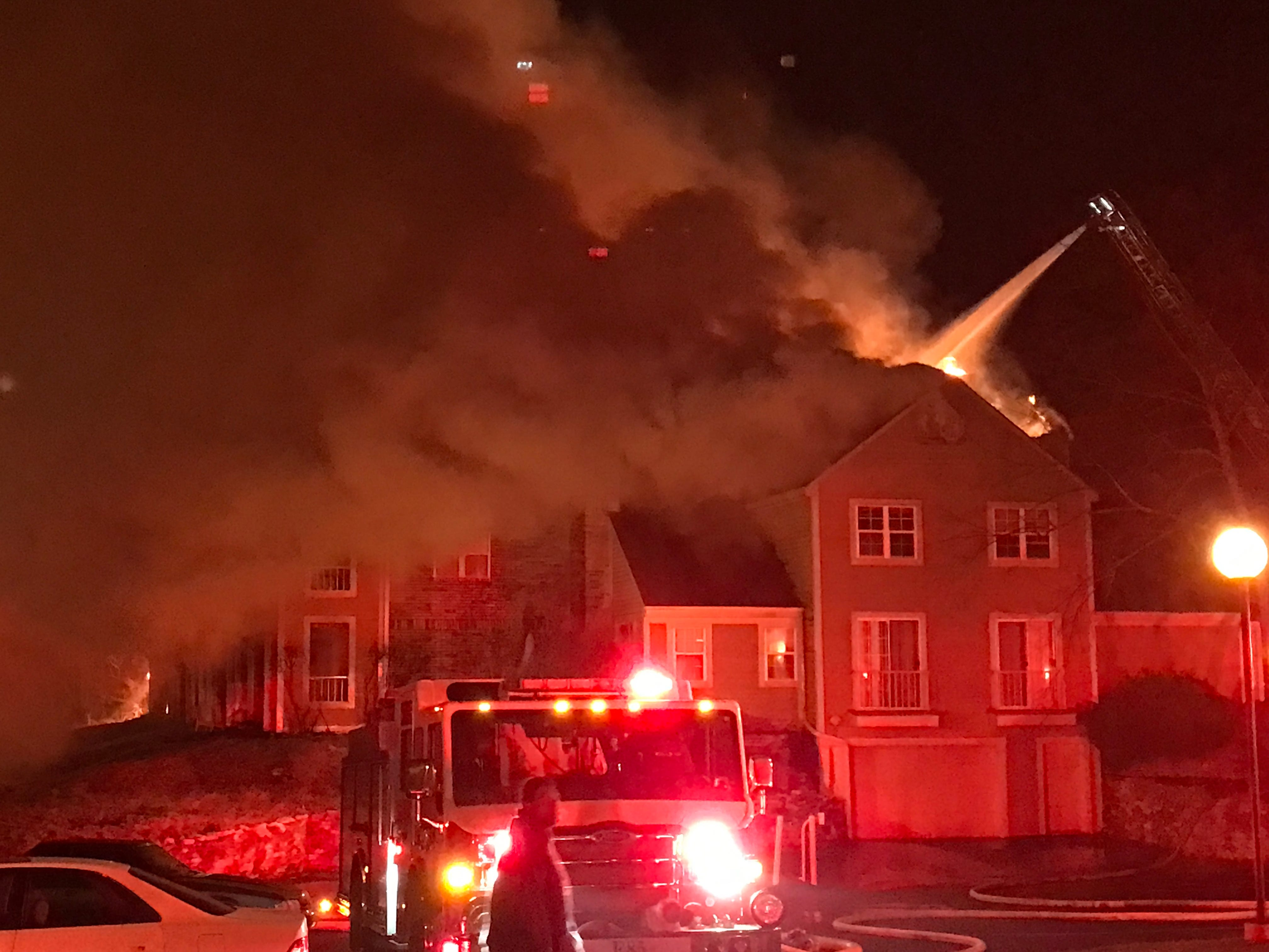 The North Shore Fire Department in a Facebook post said numerous rescues were made from the burning building.