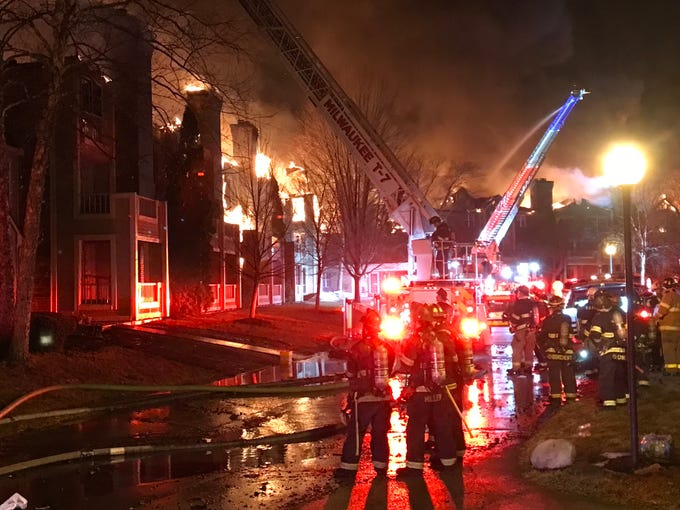 A three-alarm fire at the White Oaks apartment complex left residents homeless and destroyed a building.