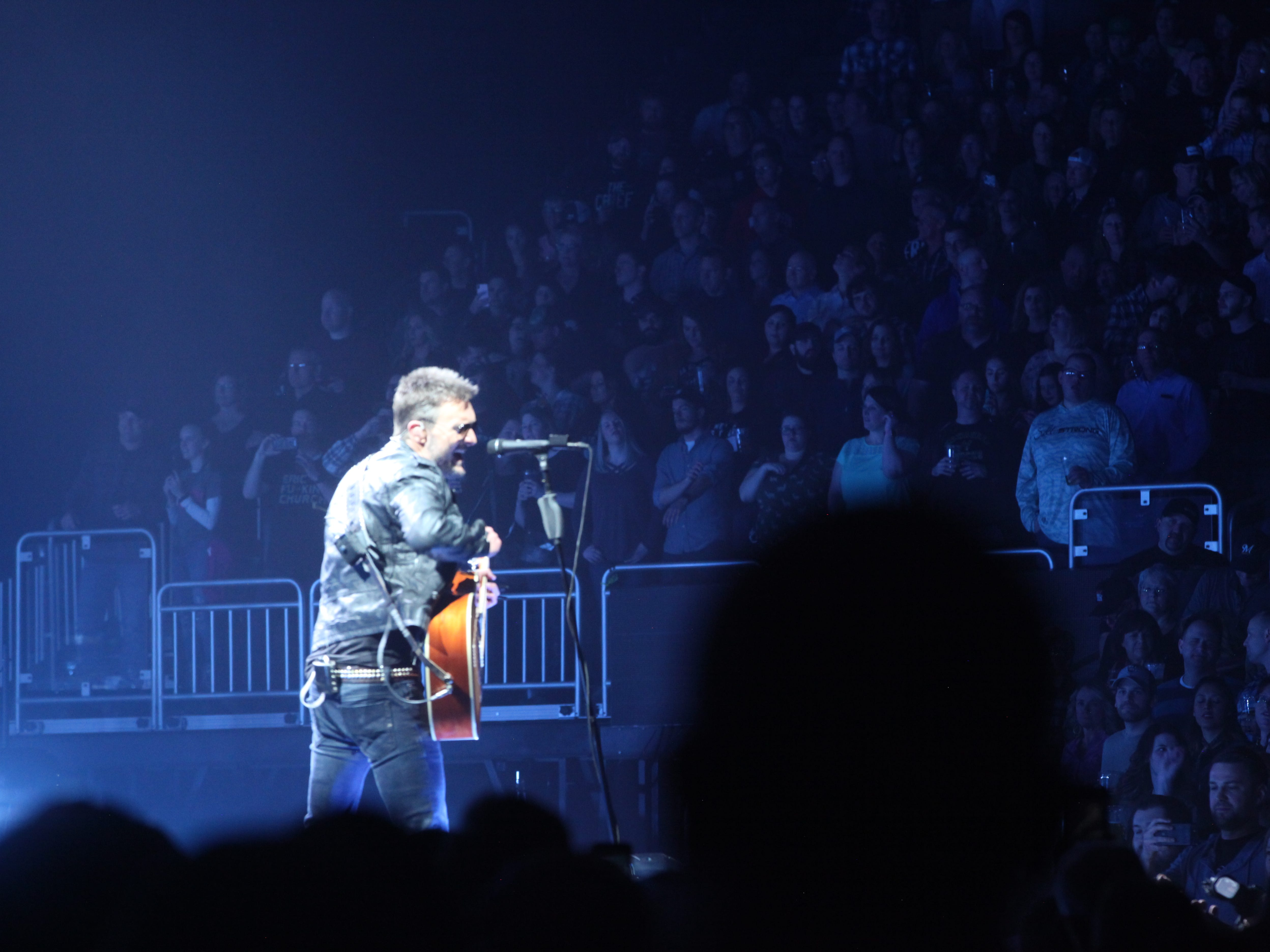 """Eric Church performs night one of the two-evening Milwaukee run of his """"Double Down"""" tour on Friday, March 29, at Fiserv Forum."""