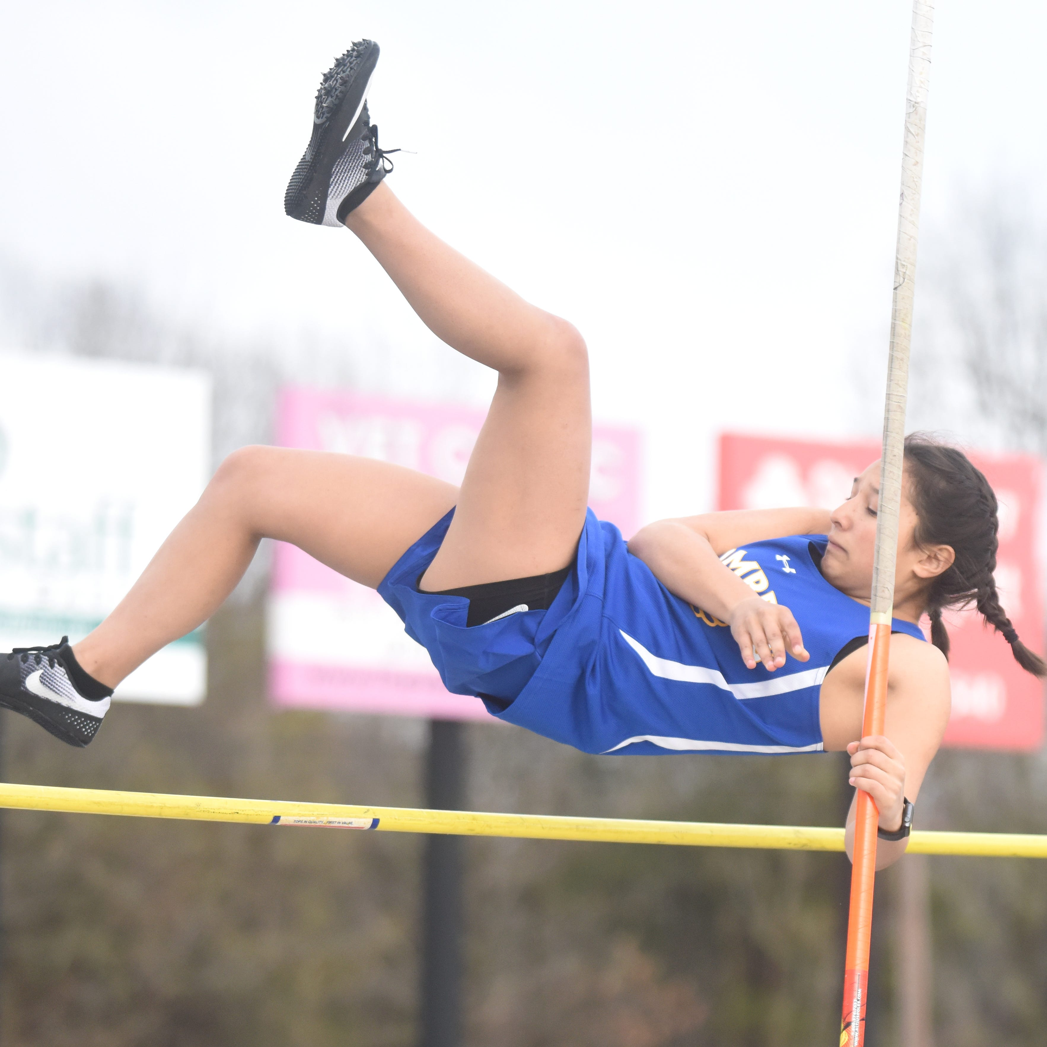 Jr. Lady Bombers win home meet