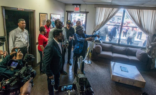 Commodores band members get a view inside the Commodore Museum in Tuskegee. Commodores Day was celebrated Friday, March 29, 2019, at the Commodore Museum in Tuskegee, Ala.