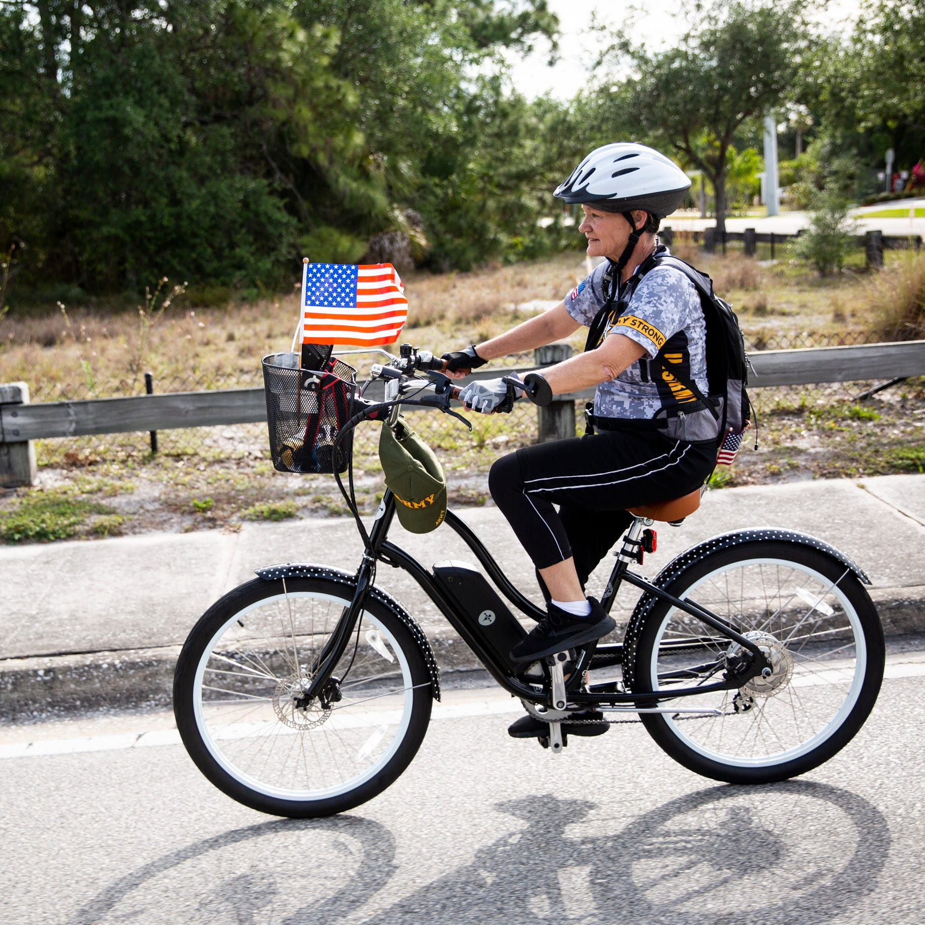 Army veteran gives thanks through 40-mile trip on electric bike