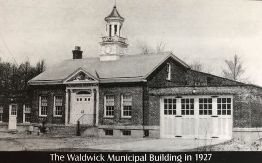 Historic picture of Waldwick's municipal building.