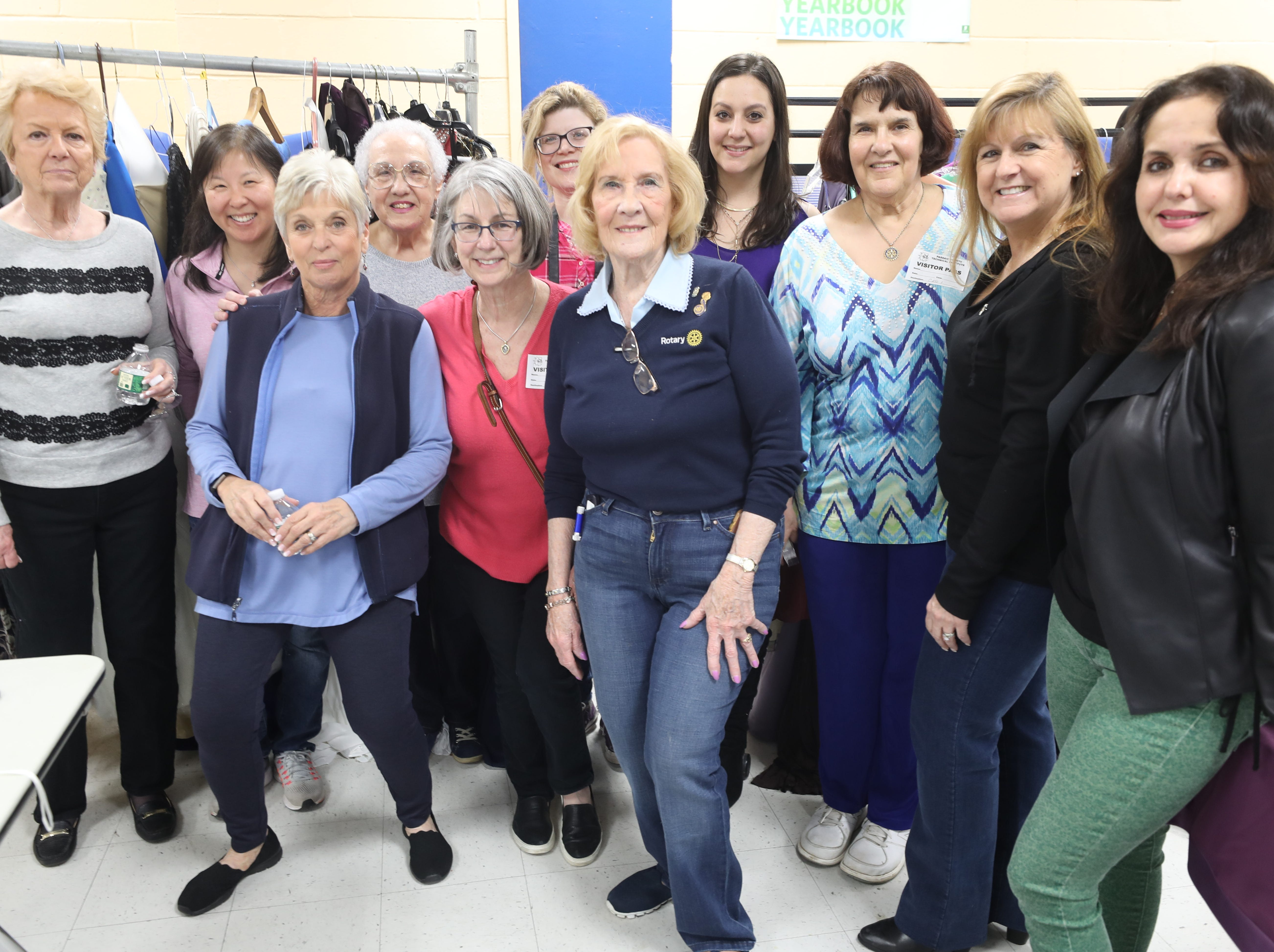 Rotary Club members and other volunteers at the annual Prom Gown Giveaway held at Passaic County Technical Institute.