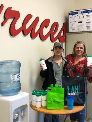 Ol' Gringo Chile Company recently switched from supplying manufacturing plant workers with single-use plastic water bottles to using a water dispenser. Keep Doña Ana County Beautiful donated reusable water bottles to help with the effort.