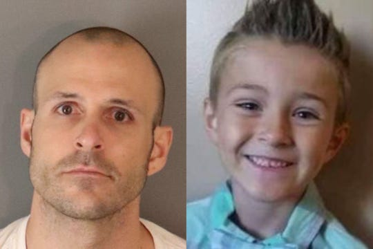 Bryce McIntosh of Corona has been charged with killing his son, Noah McIntosh, age 8.