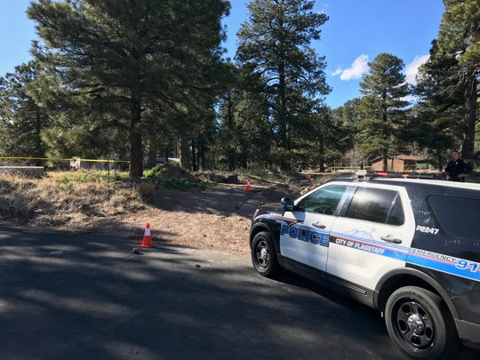 Homicide scene in Flagstaff where one person was stabbed Friday afternoon on March 29, 2019.