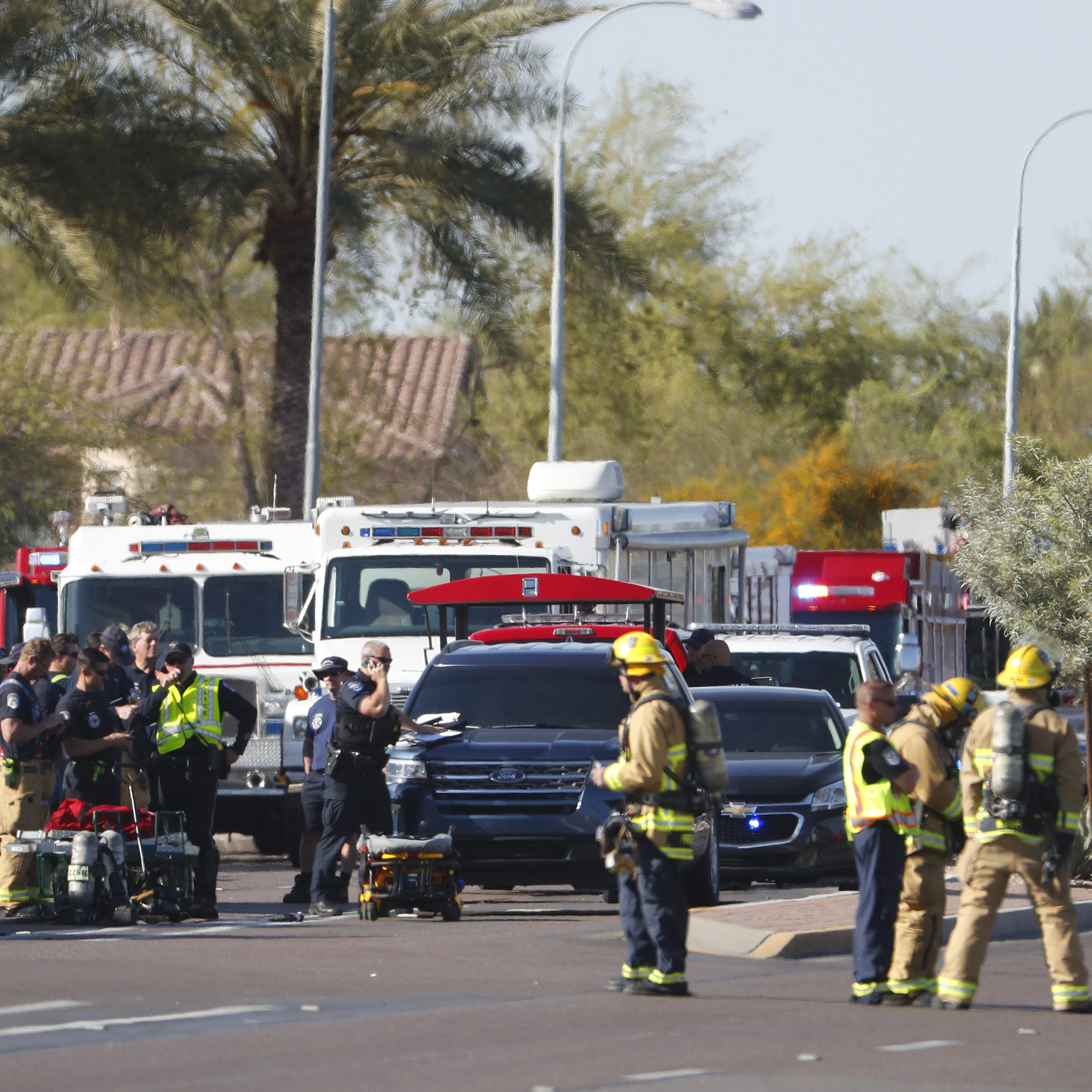 Driver arrested after crash results in hazardous-materials spill in Chandler