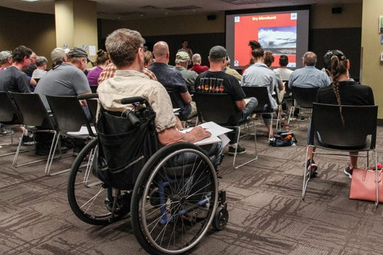 """Dozens gathered in Tempe for a """"Skywarn"""" weather-spotting training held by the National Weather Service on March 30, 2019."""