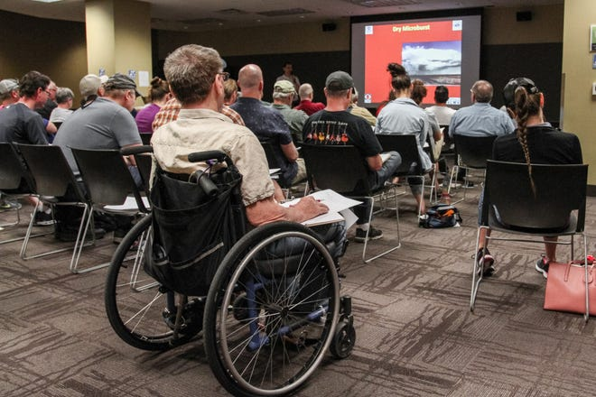 "Dozens gathered in Tempe for a ""Skywarn"" weather-spotting training held by the National Weather Service on March 30, 2019."
