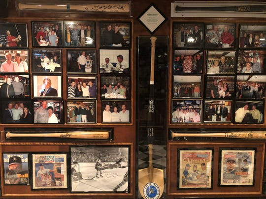 Framed pictures on a wall at Don & Charlie's in Scottsdale on March 29, 2019.