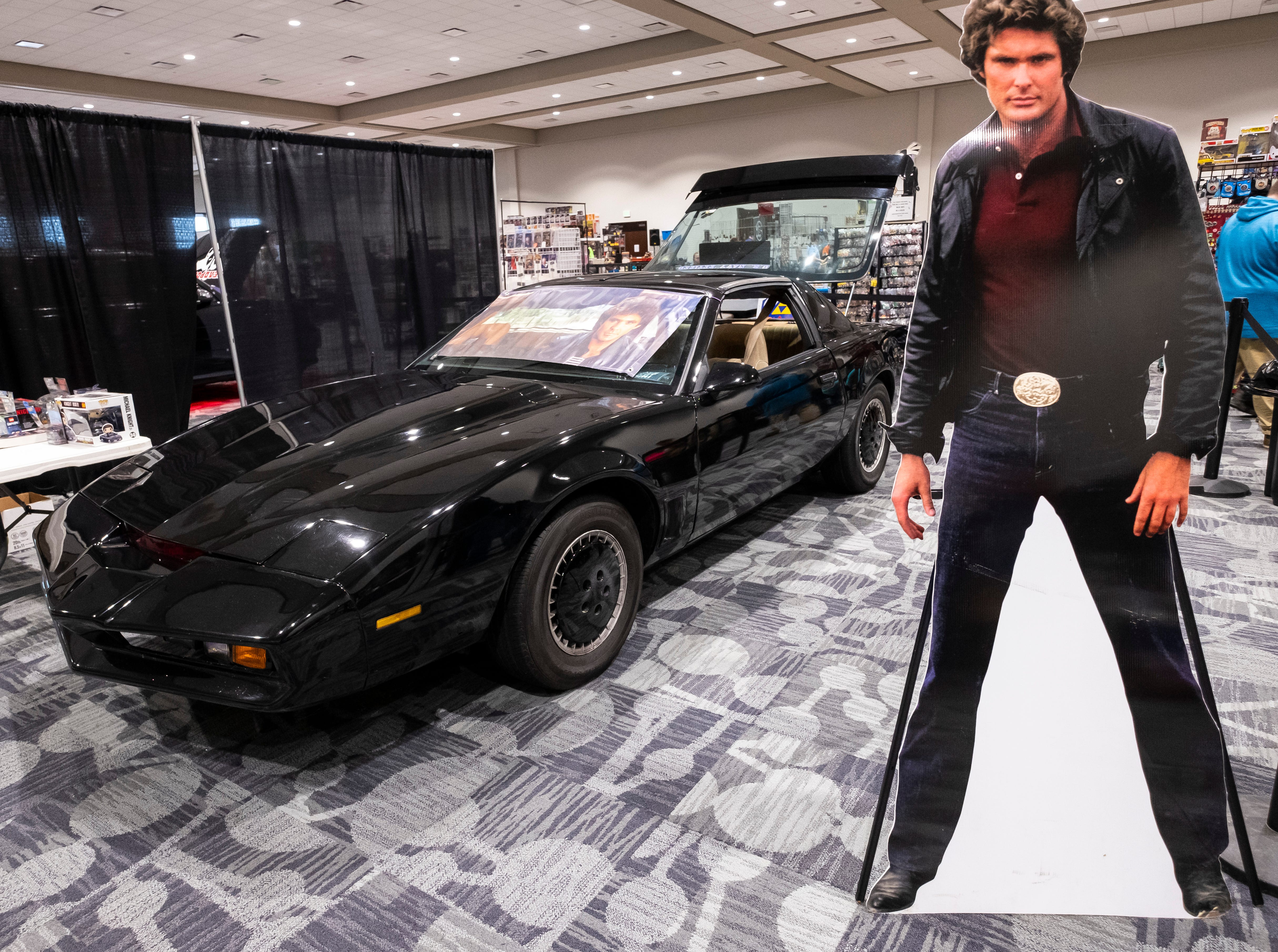 A replica of KITT, from Knight Rider, is on display Saturday, March 30, 2019 during Blue Water International Comic-Con at the Blue Water Convention Center.