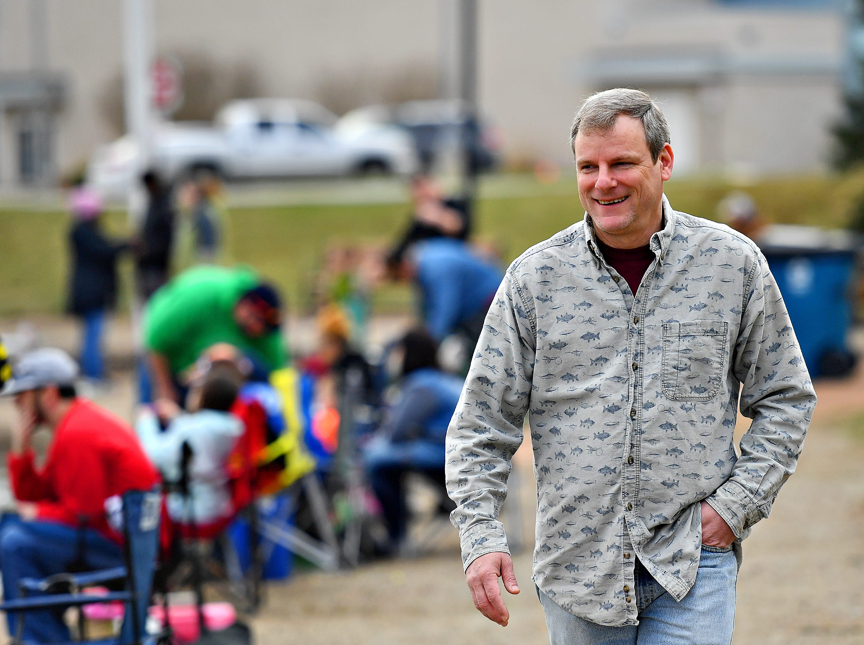 York City Mayor Michael Helfrich during the 21st Annual William Shaffer Trout Fishing Derby at Kiwanis Lake in York City, Saturday, March 30, 2019. Dawn J. Sagert photo