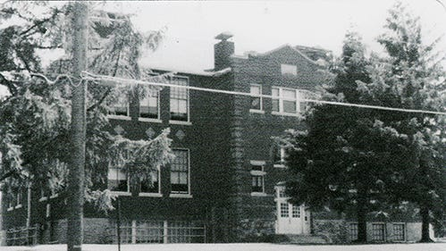 """Carole Haller of Spring Garden Township shared this photo of the front of the former Mount Rose Elementary School. She said she took photos when her daughter, Susan, began her school days there. """"Mount Rose Elementary School consisted of two buildings,"""" she wrote. """"The lower grades were housed in the older building facing Mount Rose Avenue and the upper grades, through sixth grade, were in the former high school building that faced Ogontz Street and was located across a playground, in back of the older building. When the older building was demolished in the summer of 1978, all of the students were combined in the remaining building on Ogontz Street. After the 1982 school year, Mount Rose School was closed and students transferred to other schools in the York Suburban School District. The remaining building, still standing, was bought and is being used by a church."""" Submitted"""