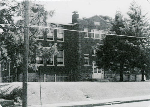 "Carole Haller of Spring Garden Township shared this photo of the front of the former Mount Rose Elementary School. She said she took photos when her daughter, Susan, began her school days there. ""Mount Rose Elementary School consisted of two buildings,"" she wrote. ""The lower grades were housed in the older building facing Mount Rose Avenue and the upper grades, through sixth grade, were in the former high school building that faced Ogontz Street and was located across a playground, in back of the older building. When the older building was demolished in the summer of 1978, all of the students were combined in the remaining building on Ogontz Street. After the 1982 school year, Mount Rose School was closed and students transferred to other schools in the York Suburban School District. The remaining building, still standing, was bought and is being used by a church."" Submitted"