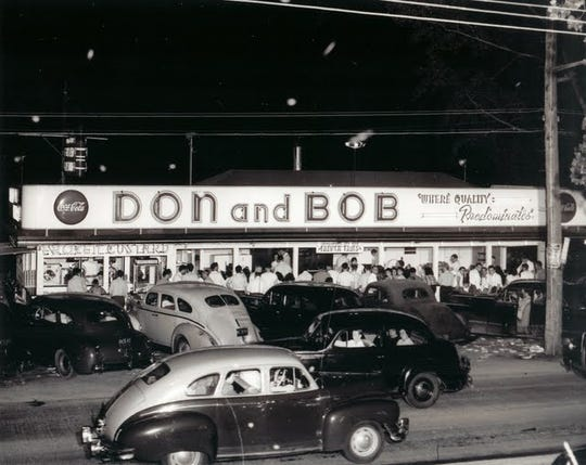 This circa 1945 photo shows Don and Bob's; the name of the eatery changed to Don's Original under the same owners, Don Barbato and his wife, Ann, in the 1970s.