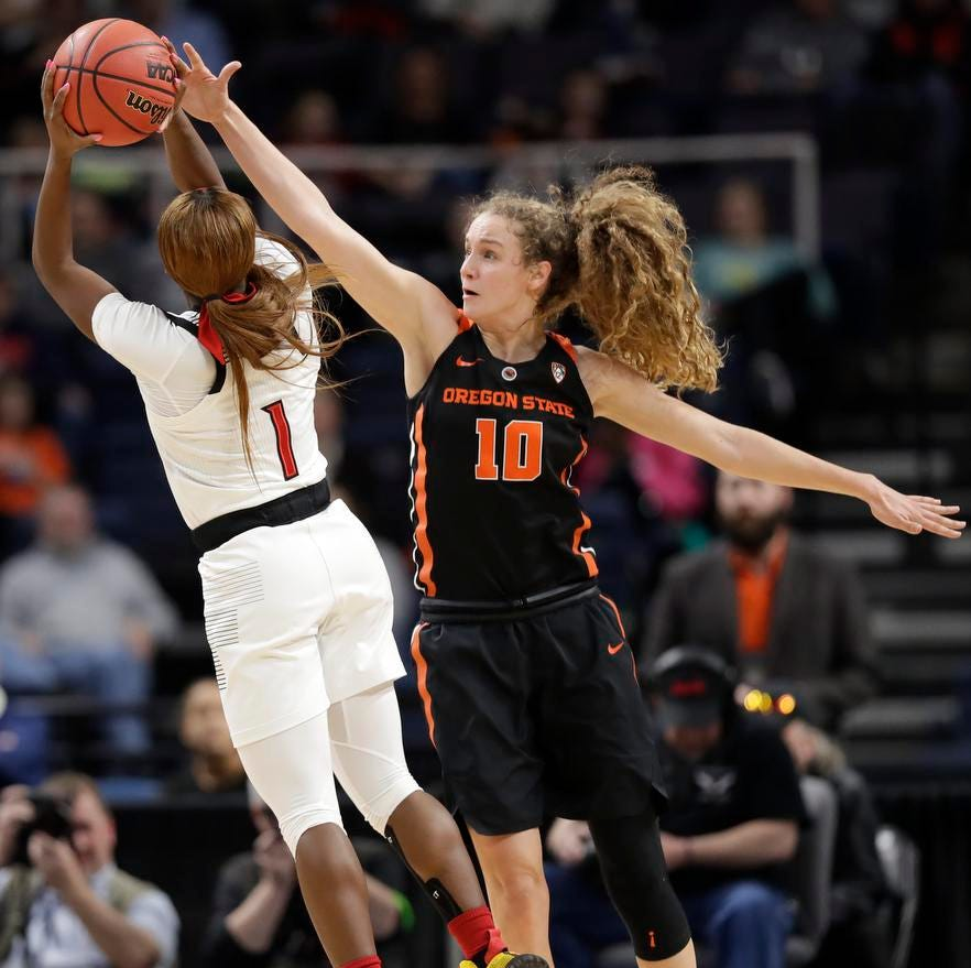 NCAA women: Oregon State Beavers fall to Louisville in Sweet 16