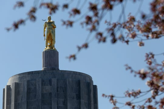 The Oregon State Capitol on March 30.