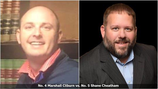 Bracket Survivor XIV, quarterfinal matchup: No. 4 Marshall Cliburn vs. NO. 5 Shane Cheatham.