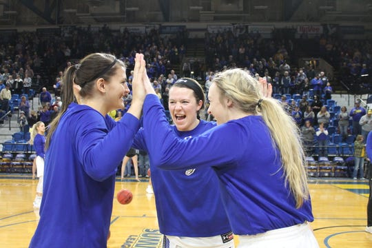Macy Miller and Madison Guebert departed SDSU, along with fellow senior Sydney Palmer after leading the Jackrabbits to the first Sweet 16 appearance in program history.