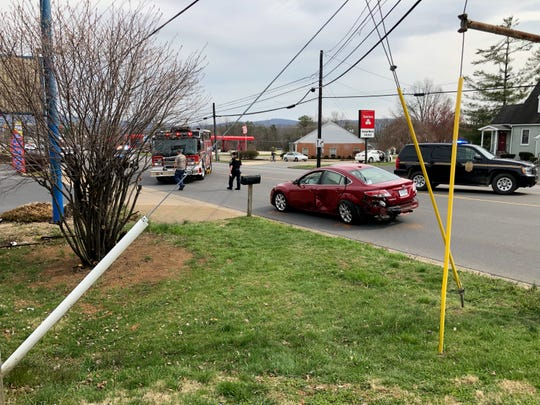A motorcyclist sped up and crashed into a red sedan in Waynesboro Saturday afternoon. The crash was fatal for the cyclist.