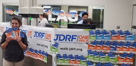 JDRF Paper Shoes Donation Program at FLAG Credit Union.