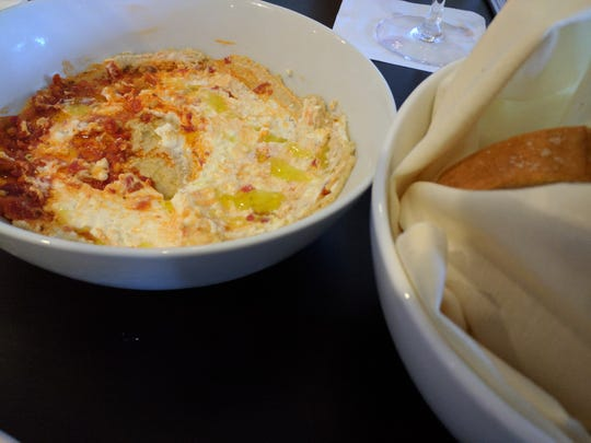 Moroccan hummus is a spicier version at the new Citrus. We relished the addition of Calabrian chili paste and feta.