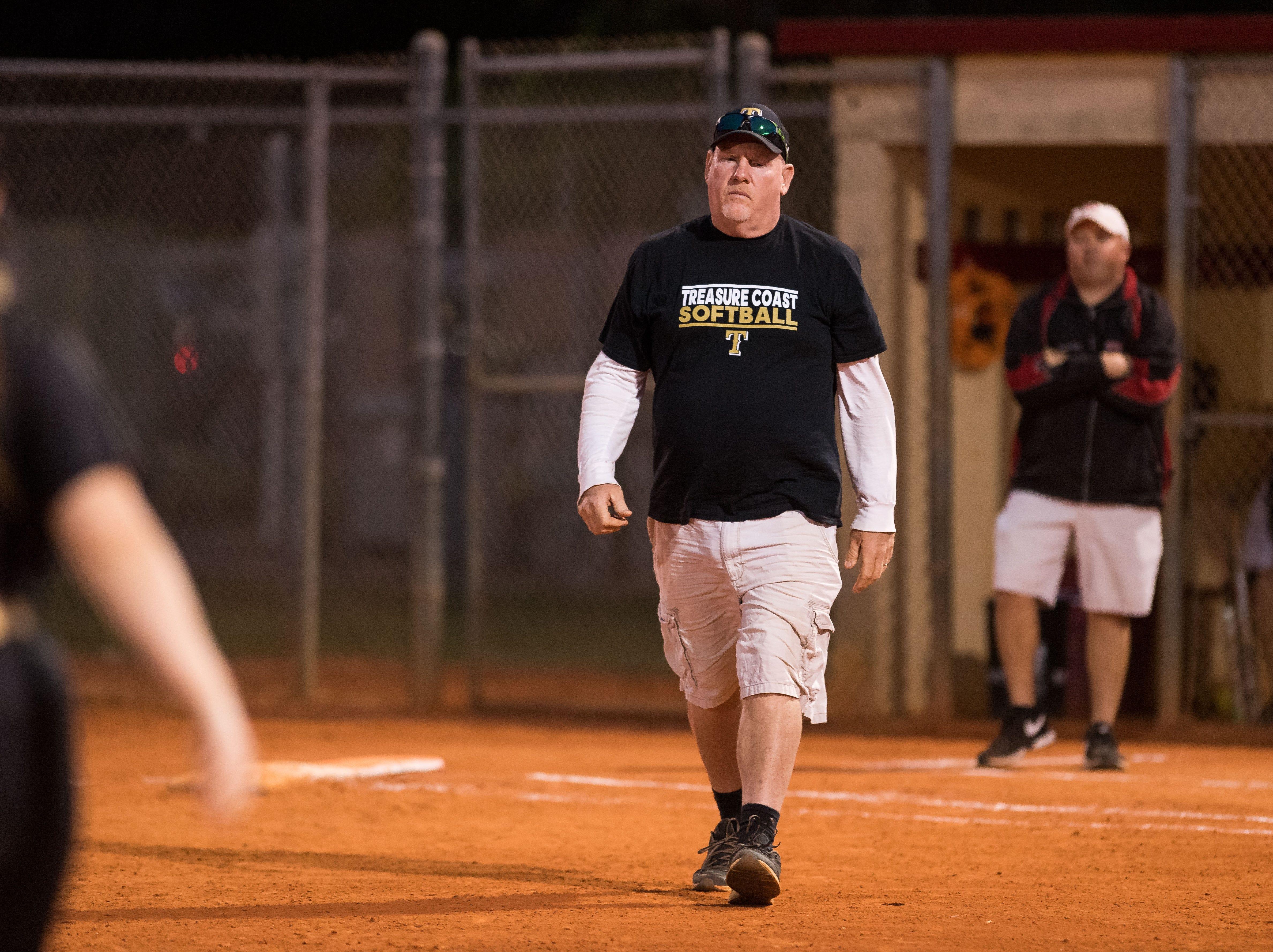 Vero Beach plays against Treasure Coast during the high school softball game Friday, March 29, 2019, at Vero Beach High School.