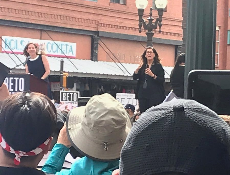 Amy O'Rourke takes the stage
