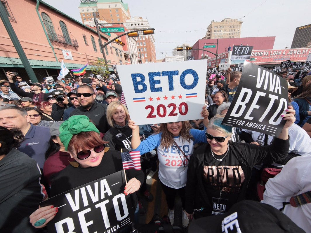The crowd was ready for Beto O'Rourke just before the official rally to kick off his 2020 presidential campaign begin.