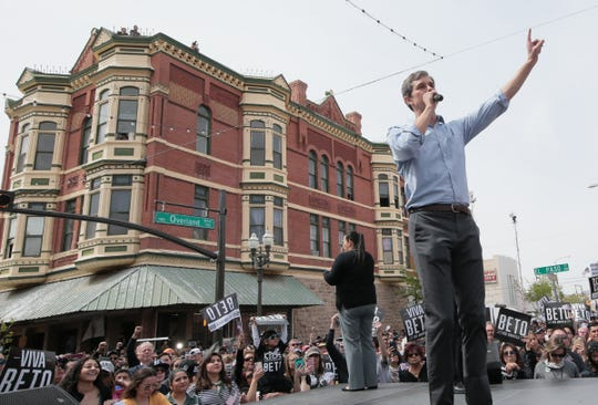 El Pasoan Beto O'Rourke officially kicked off his presidential campaign March 30 on South El Paso Street in Downtown El Paso.