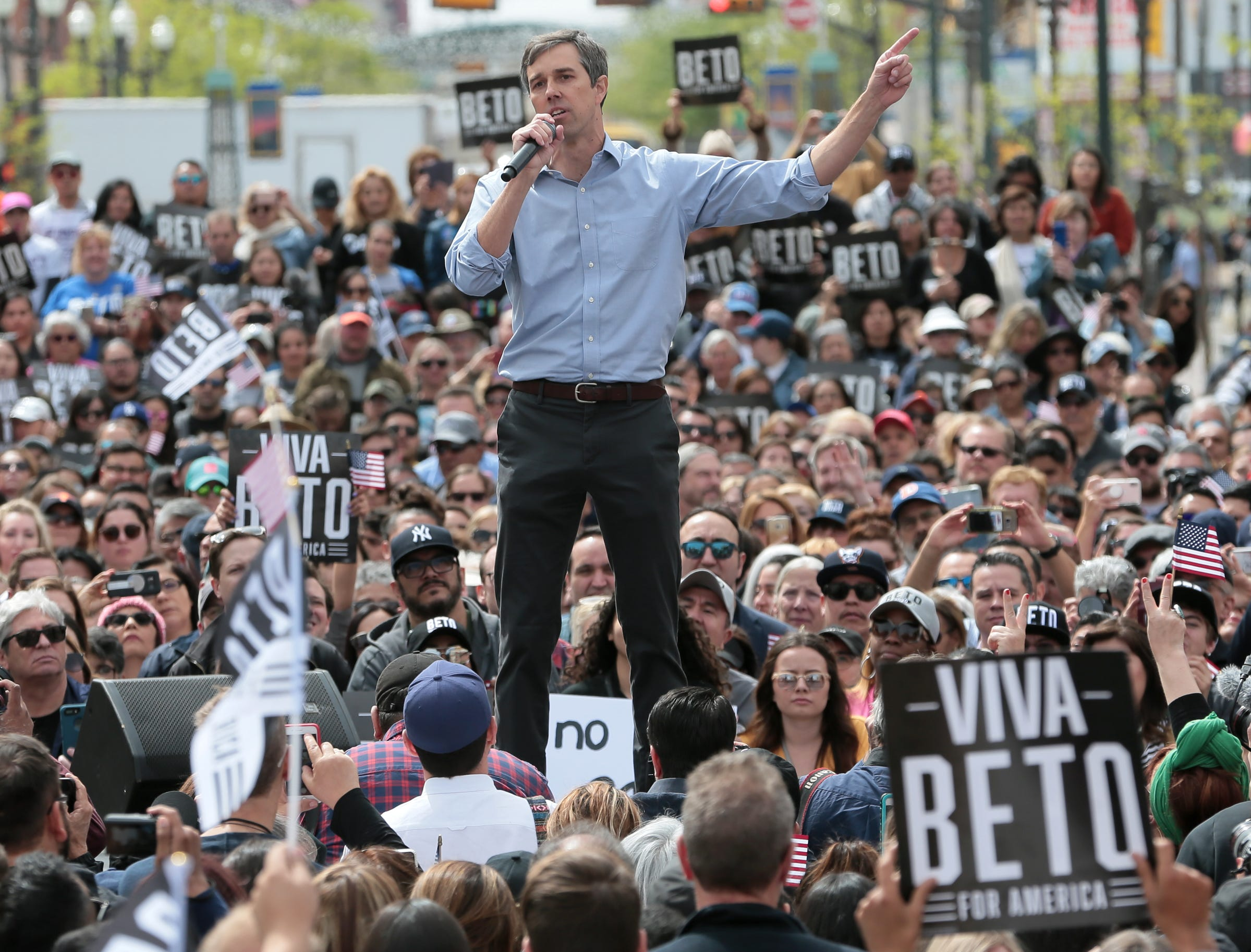 El Pasoan Beto O'Rourke officially kicked off his presidential campaign Saturday on El Paso Street in downtown El Paso.